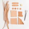 DIY Bastelset aus Bioleder Naturleder | DIY Set of natural vegetable tanned organic leather